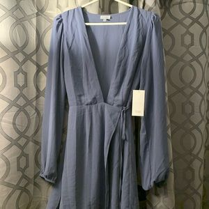 "Deep v ""wrap"" style dress from Tobi!"